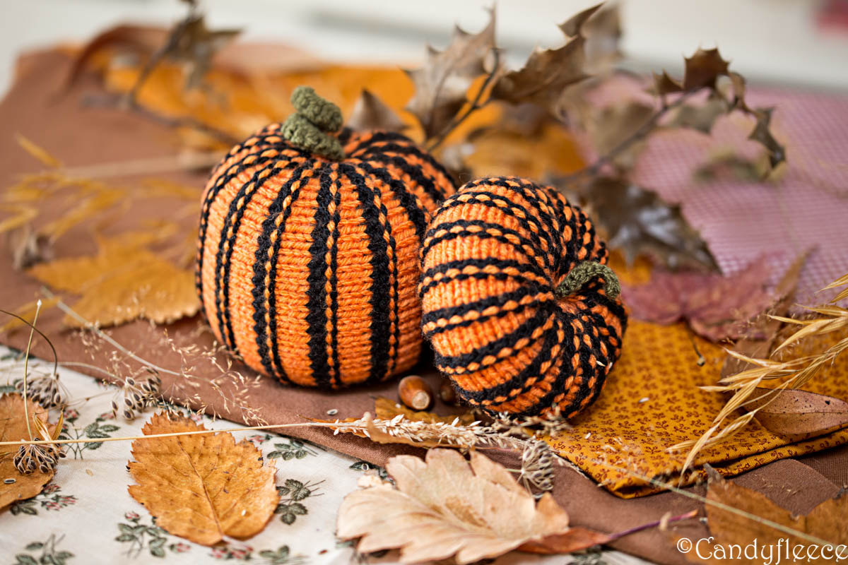 Etsy Halloween Decorations Knitted Pumpkins