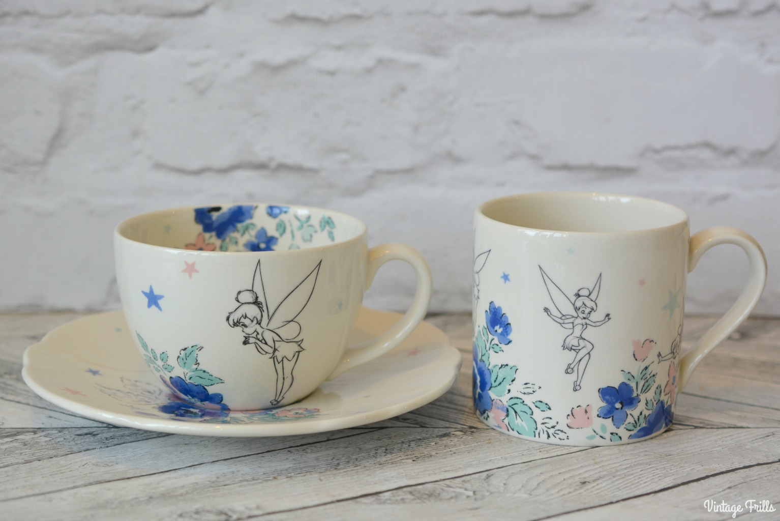 Cath Kidston Disney Tinker Bell Tea Cup and Saucer and Mug