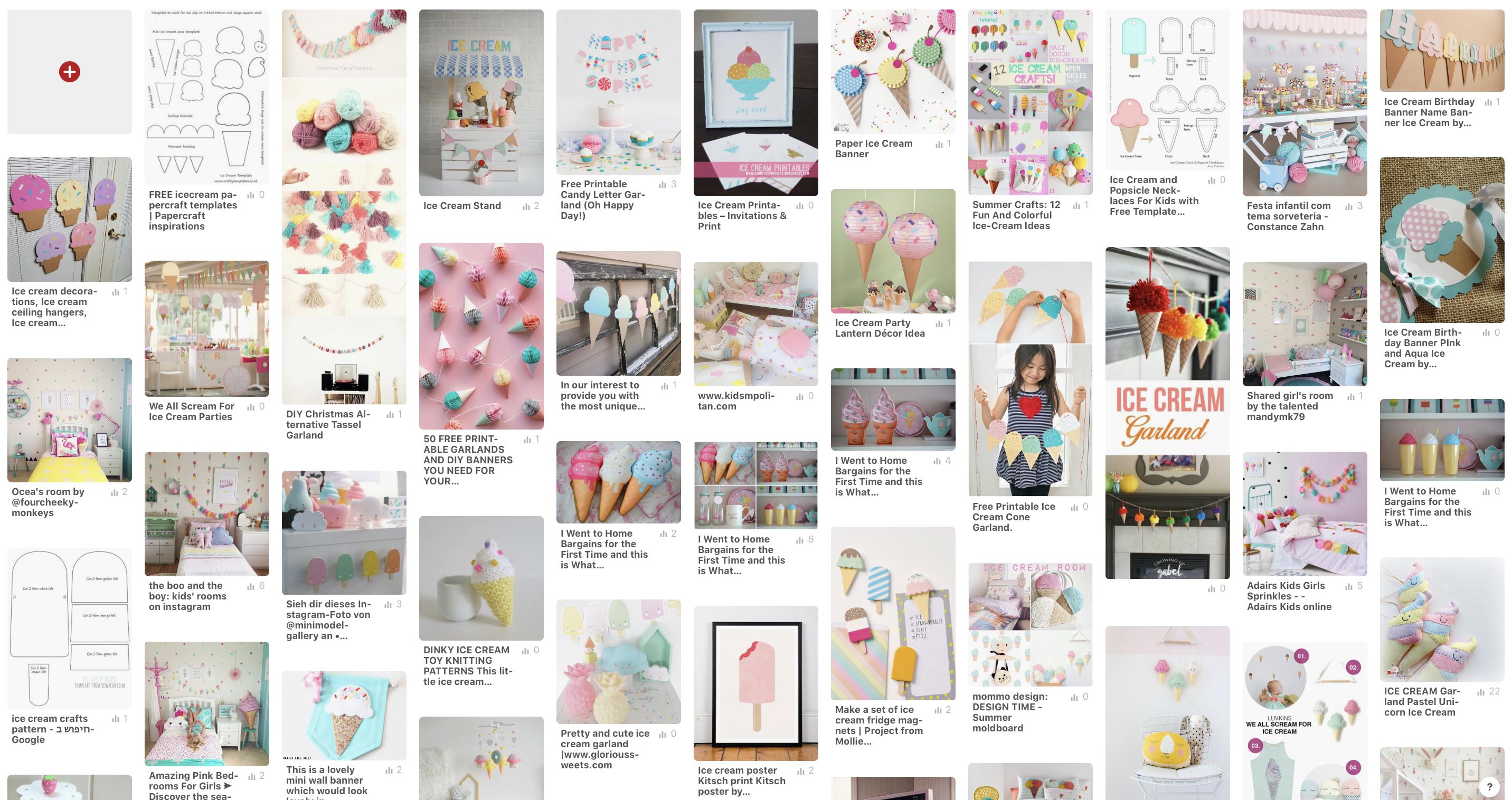 Ice Cream Theme Pinterest board
