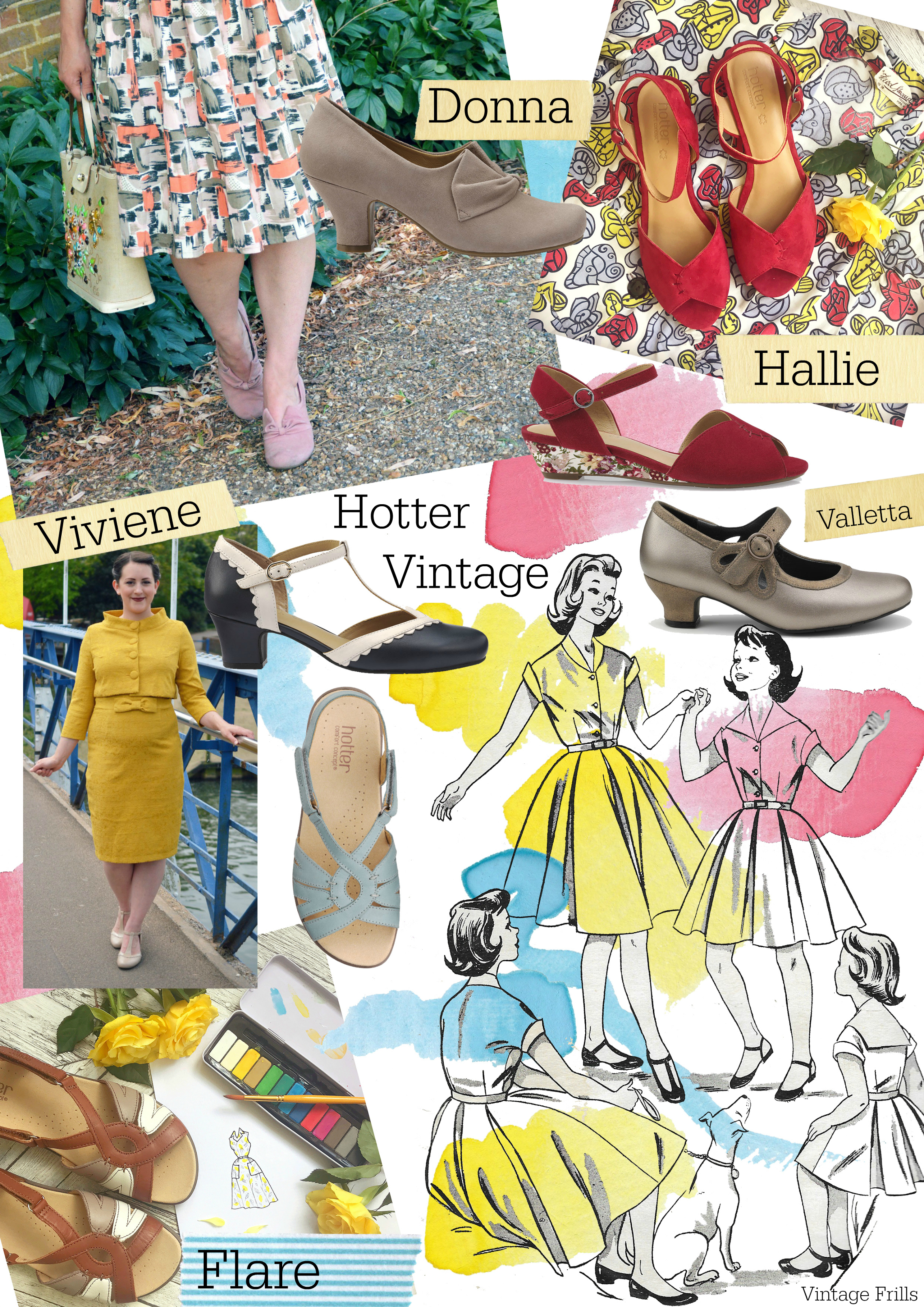 Lovely Shoes for Vintage Outfits